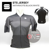 Sportful GTS Jersey ANTHRACITE BLACK WHITE - Jersey Sepeda - XL