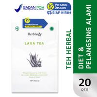 HERBILOGY LAXA TEA 20 PCS/BOX BPOM UNTUK MENURUNKAN BERAT BADAN