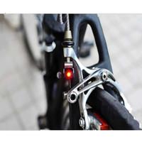 Lampu Rem Sepeda C V Mini Tahan Air cocok untuk Brompton, Sepeda Lipat
