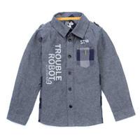 BAJU KEMEJA DENIM PANJANG ANAK LAKI-LAKI | Chicoo Denim Long Shirt