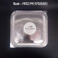 Tutup Alumunium Foil Cup Kotak 1452/44(OX1550) Tutup saja