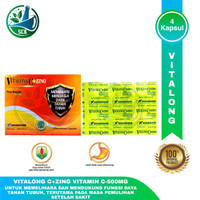 Vitalong C Dan C+ZING - Vitamin C-500 MG - ISI 4 Kapsul