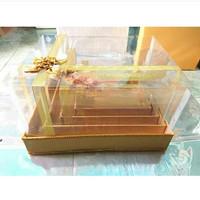 Kotak Hataran model pita / Kotak Seserahan / Box Hataran Full Mika - emas