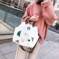 tas kanvas handbag totebag slingbag wanita model Starbucks import