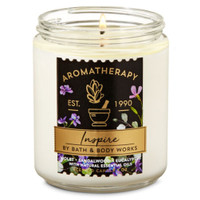 Bath and Body Works Aromatherapy Inspire Single Wick Candle 198gr