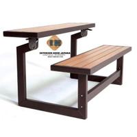 kursi meja taman besi kuat kayu jati jepara kokoh super nyaman elegant