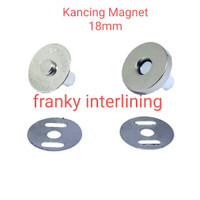 Kancing Magnet Polos Stainless isi 1 lusin
