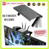 HD-017 Rak Bracket TV Komputer Rak Hanger Simpan Remote Router Wifi
