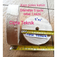 Kain poles katun 5 inchi x 1 inchi