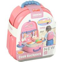 Mainan Kitchen Cook Backpack 22pcs No.688-82A