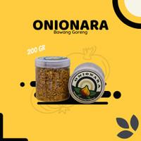 Bawang Goreng ASLI Premium Tanpa Tepung Onionara Renyah Non MSG 200gr