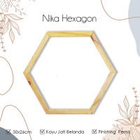 WP PROJECT Ambalan Dinding Nika Hexagon 30cm rak serbaguna