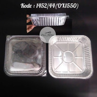 Alumunium Foil Cup Kotak 1452/44(OX1550) Tanpa Tutup