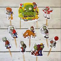 topper hiasan kue ulang tahun happy birthday karakter zombie zombies