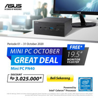 Asus Mini PC PN40-J4005PROETD bundle Monitor VS207DF