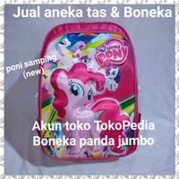 tas sekolah anak sd tk timbul 3D ransel kuda little pony poni