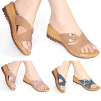 Sandal Wanita Wedges Slop /Selop Murah HD17
