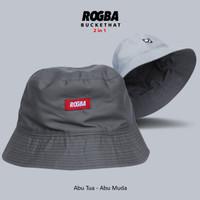 Rogba BucketHat Topi 2 in 1 By Rosal