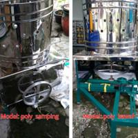 Mesin Cabut Bulu Ayam Unggas Stainless Steel anti karat pully samping