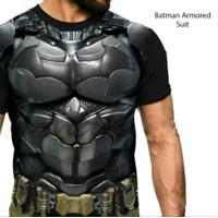 Kaos BATMAN 3D / kaos gym superhero baju distro fashion pria