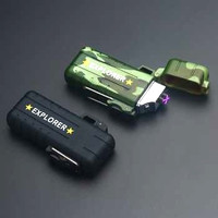 Korek api elektrik unik bisa dicas usb lighter outdoor waterproofF1270