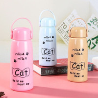 CAT Botol Minum Kaca Cat / Botol Kucing Lucu