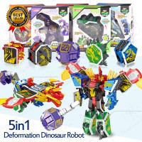 Mainan Mech Dinosaur Deformasion Series 5 in 1