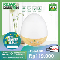 Aromatherapy Air Humidifier Oil Diffuser Egg Shape 235ml - White