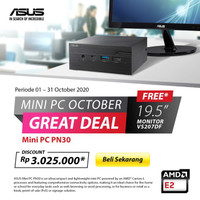 Asus Mini PC PN30-7015ENTRYEDUVALUE bundle Monitor VS207DF