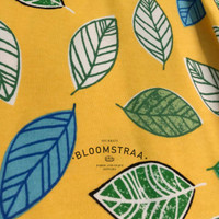 Kain Kanvas Daun Kuning Bahan Yellow Leaf Canvas Fabric