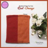 Bandana Rajut 2 Warna Orange Rust Razha