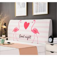 Elastic Headboard Cover / Penutup Divan Headbed Elastis Spring Bed - Flaminggo, S