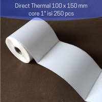 Kertas Label Barcode STIKER Thermal 100 x 150 mm - ISI 250PCS