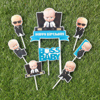 topper hiasan kue ulang tahun happy birthday karakter baby boss baby