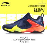 NEW Sepatu Badminton Lining Shadow V AYAQ013 / AYAQ 013 Navy Blue