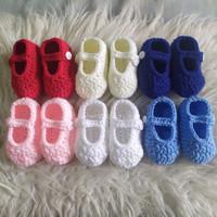 basic baby booties newborn sepatu bayi rajut 01 - newborn, Putih
