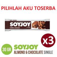 SOYJOY ALMOND & CHOCOLATE 30 gr - ( HARGA PAKET ISI 3 PCS )