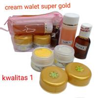 CREAM PAKET / WALET SUPER GLOWING 4IN1 TAS ORI