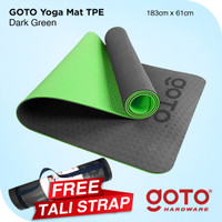 Goto TPE Matras yoga Mat 6mm Double Layer Anti Slip Gym Olahraga
