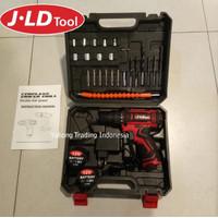 Cordless Drill Set 29pcs 12V Mesin Bor Obeng Kunci Pas Electrik