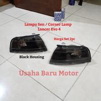 Lampu Sen Sein Corner Lamp Set Mitsubishi Lancer Evo 4 (Black Smoked)