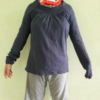 Kaos Lengan Panjang Wanita Warna Polos