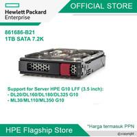 HDD HPE 1TB SATA 6G Midline 7.2K LFF (3.5in) LP 861686-B21