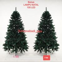 Pohon Natal SNOW DROP FIR TREE (kode 1788) Ukuran 5 Ft/150Cm