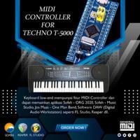 Modul Midi Controller Techno T-5000 (Tuts, Tombol Kontrol, Pitch Bend)