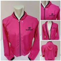 Jaket sepeda shimano parasut waterProof - pink