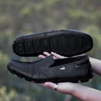 Sepatu Casual Formal Pria Crocodile Slip On Kulit Asli