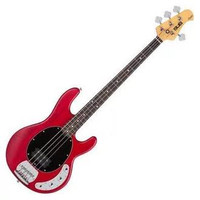 Sterling by Music Man RAY4-TRS/R 4 String Electric Bass Trans Red