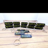 Gantungan Kunci Acrylic Custom Nomor Plat Kenderaan / Ganci Acrylic