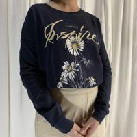 Sweatshirt Sweater Graphic Wanita Bershka Hitam